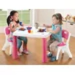 Step2 Table And Chairs With Umbrella Office Chair Video Game Lifestyle Kitchen Kids Set & Reviews | Wayfair