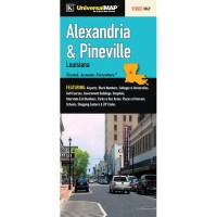 Universal Map Alexandria/Pineville Louisiana Fold Map ...