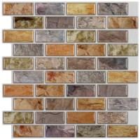 "Instant Mosaic 12"" x 12"" Epoxy Peel & Stick Mosaic Tile in ..."