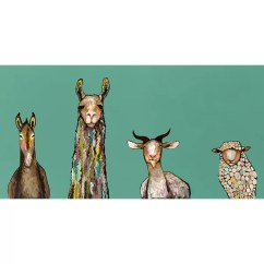 Kitchen Storage Canisters Remodeling A Small Donkey Llama Goat Sheep Canvas Print & Reviews | Joss Main