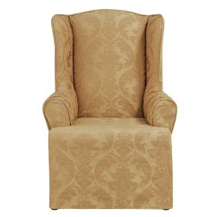 Sure Fit Wing Chair Cover Acapulco Lounge Matelasse Damask Slipcover And Reviews