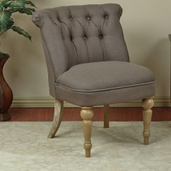 Ave Six Chair Linen Wingback Cover Aubrey Tufted Slipper And Reviews Wayfair