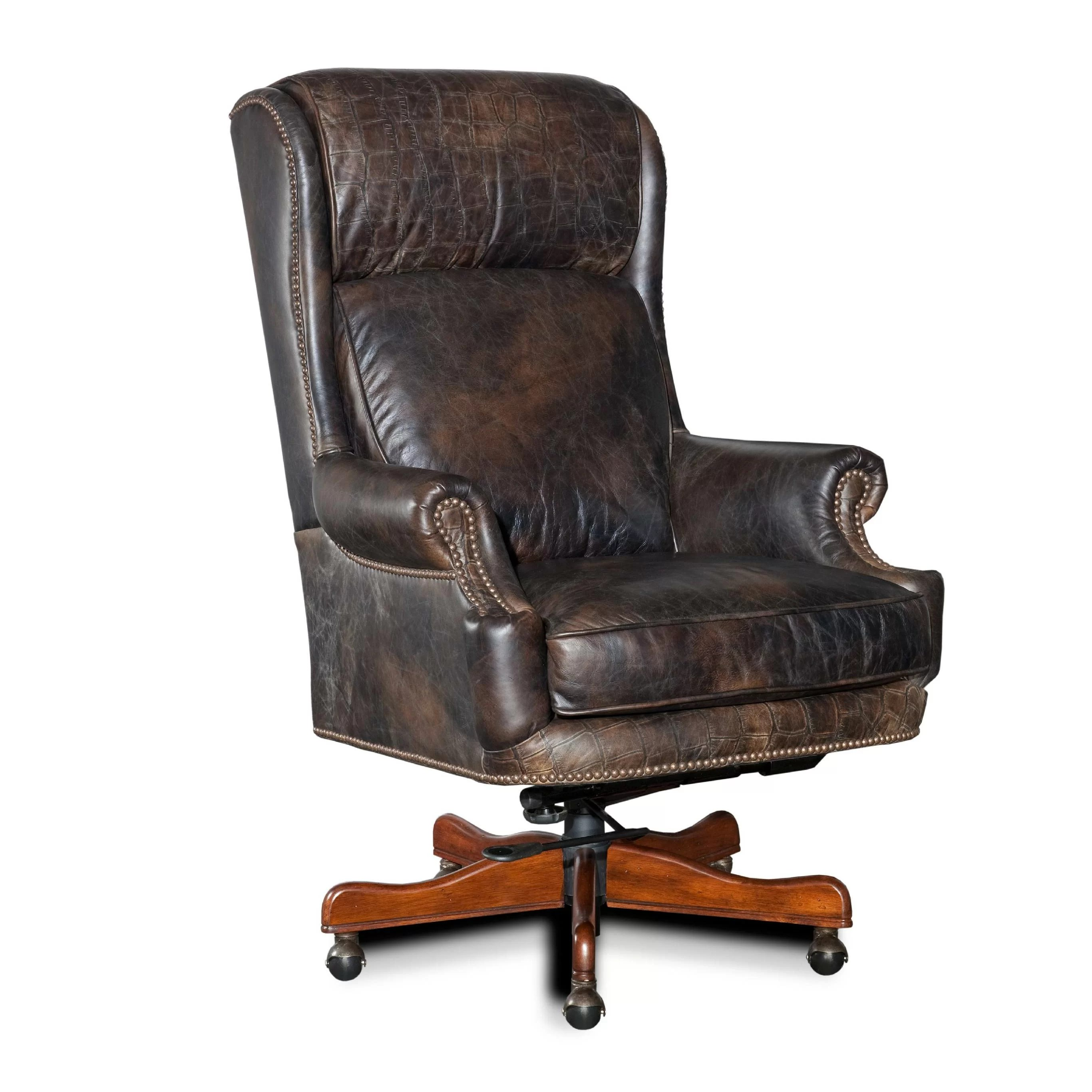 Hooker Leather Chair Hooker Furniture Leather Executive Chair And Reviews Wayfair