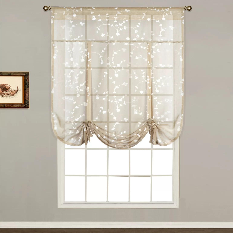 United Curtain Co Savannah Sheer Tie Up Shade Single Curtain