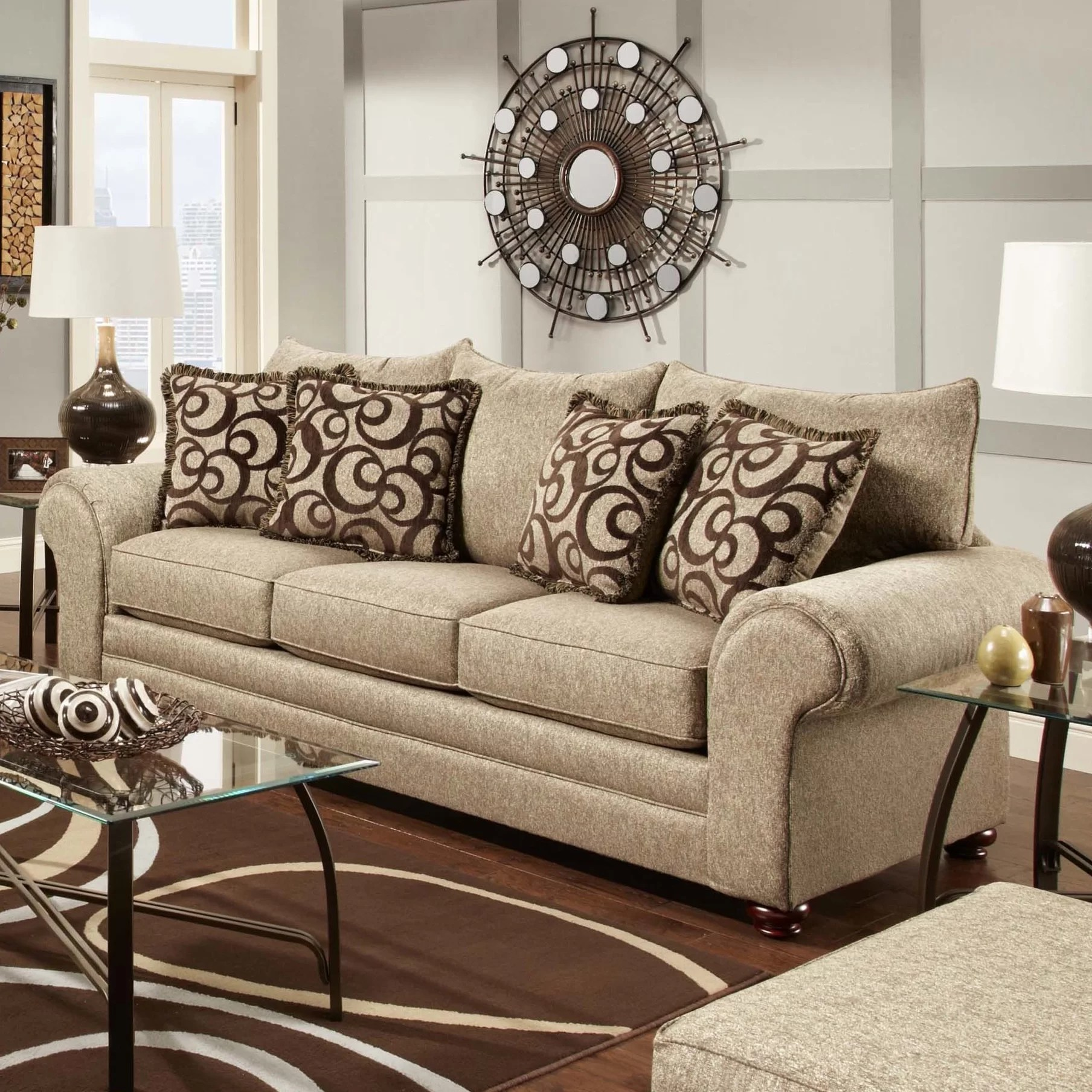 chelsea square sofa navy tufted sectional home astrid and reviews wayfair