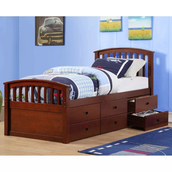 Donco Kids Twin Slat Bed With Drawers
