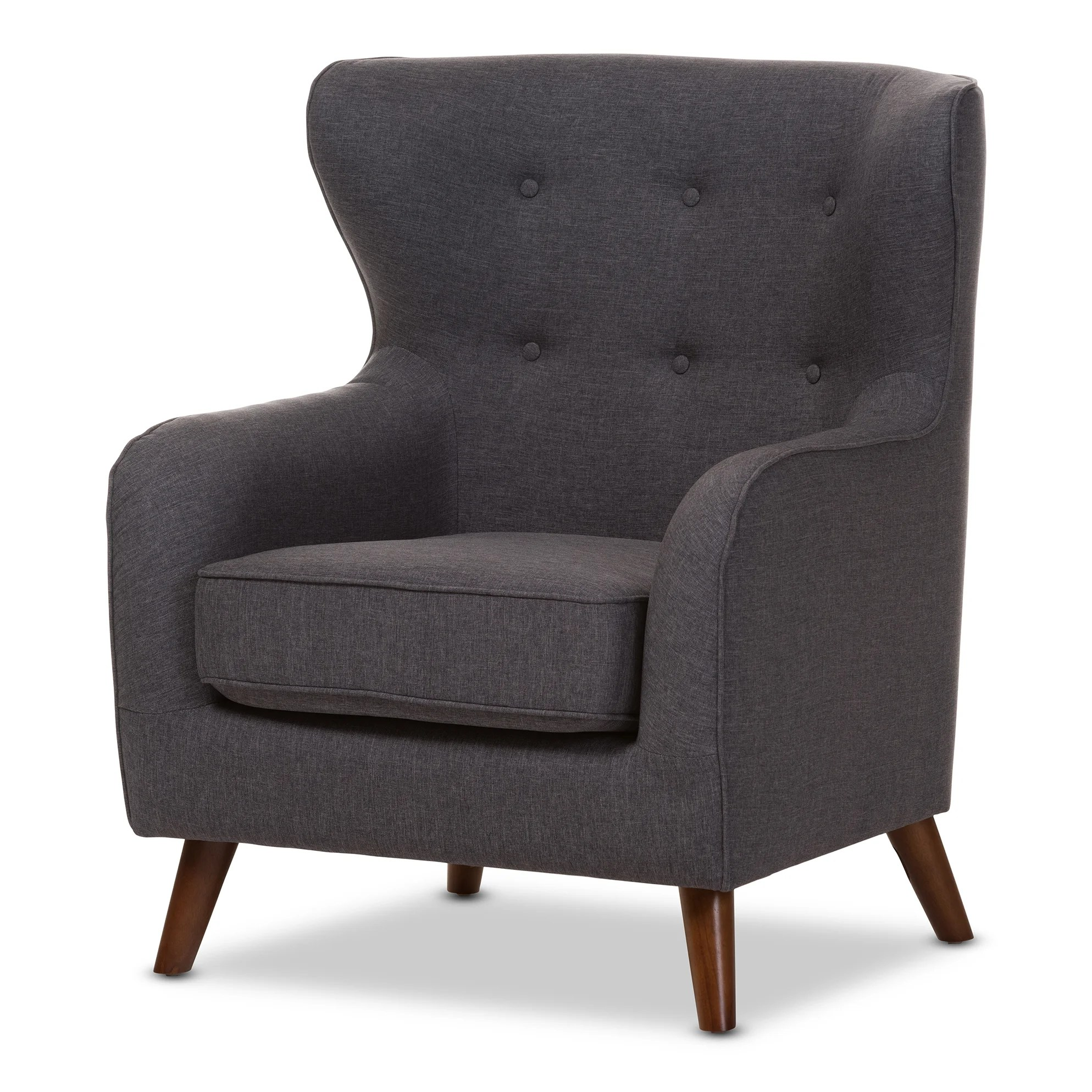Upholstered Club Chair Wholesale Interiors Baxton Studio Sabrina Upholstered Club