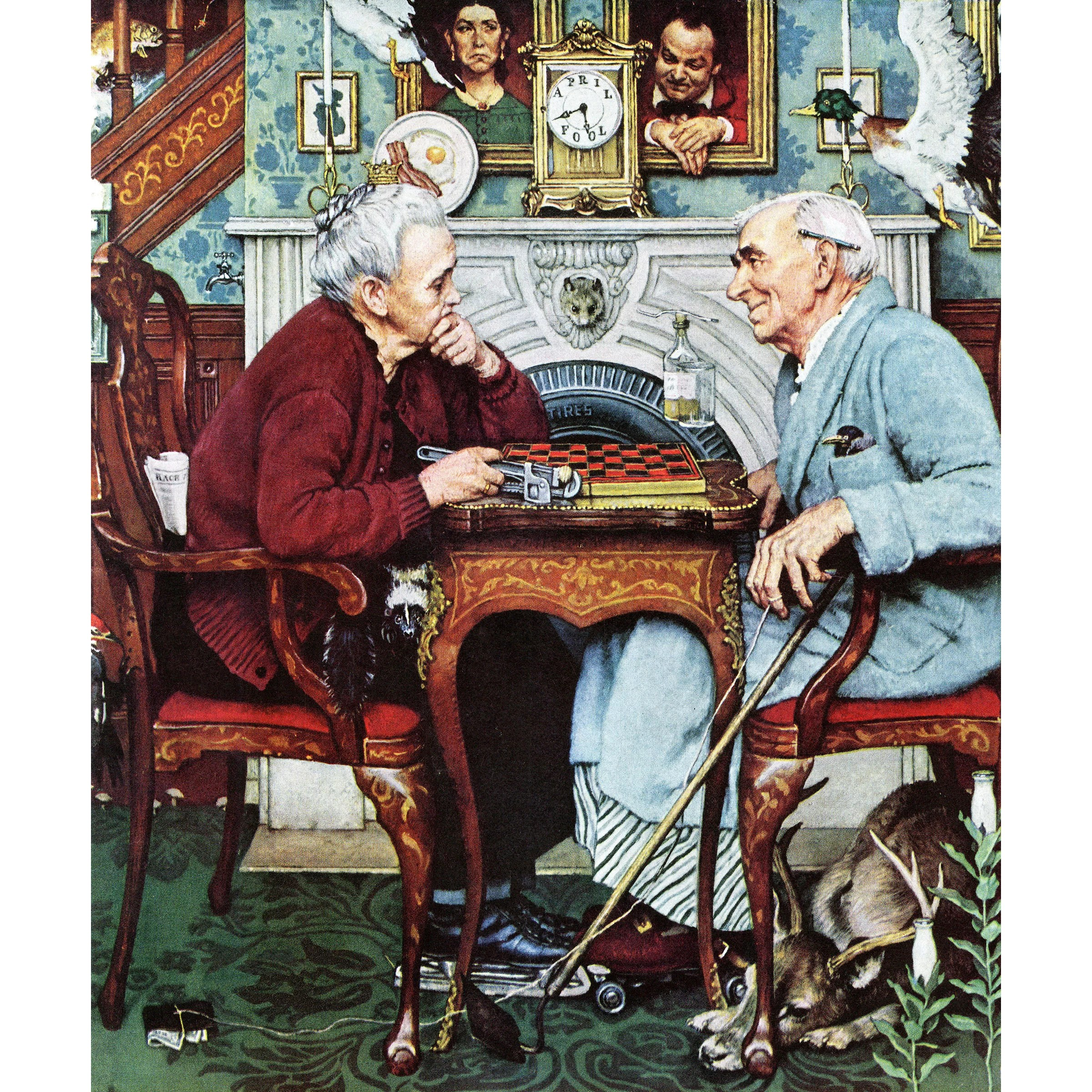 Painting Norman Fools Rockwell April