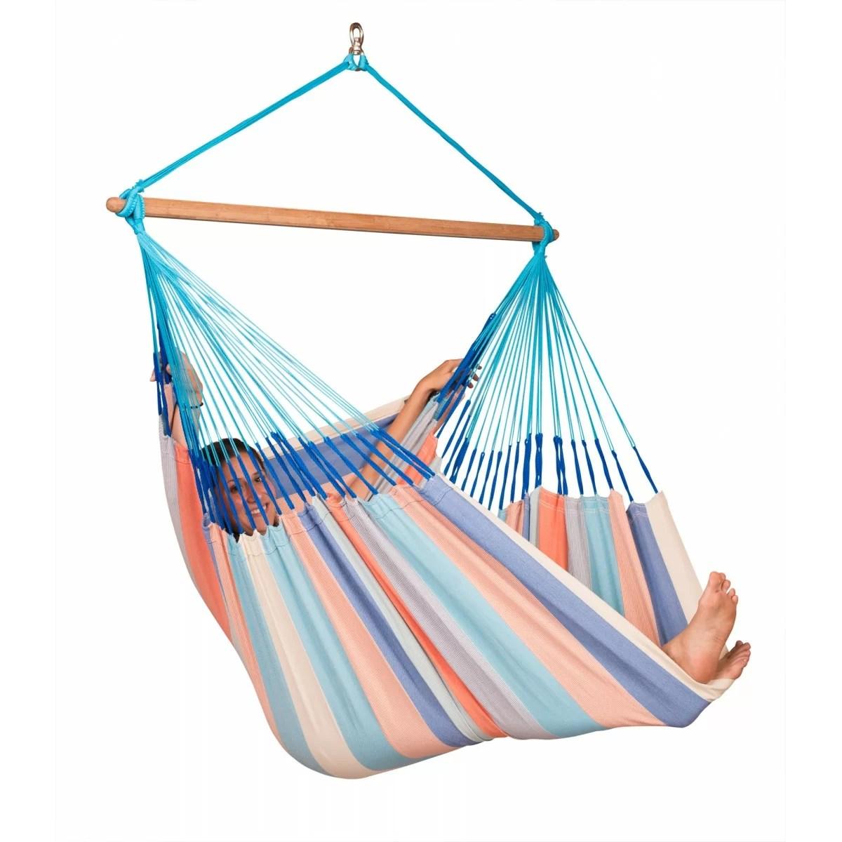 la siesta hammock chair fabric padded folding chairs domingo weatherproof lounger
