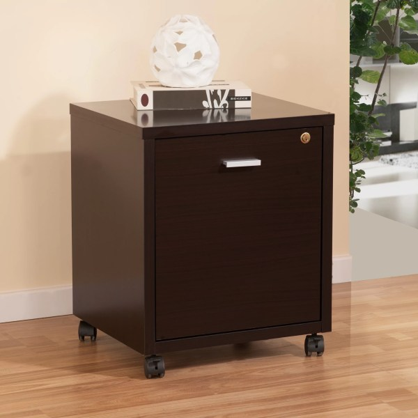 Hokku Design 1 Drawer Collin Single Equipment Trolley File Cabinet &