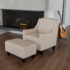 Upholstered Bedroom Chair With Arms Round Table 6 Chairs Set Three Posts Simpson Arm Ottoman