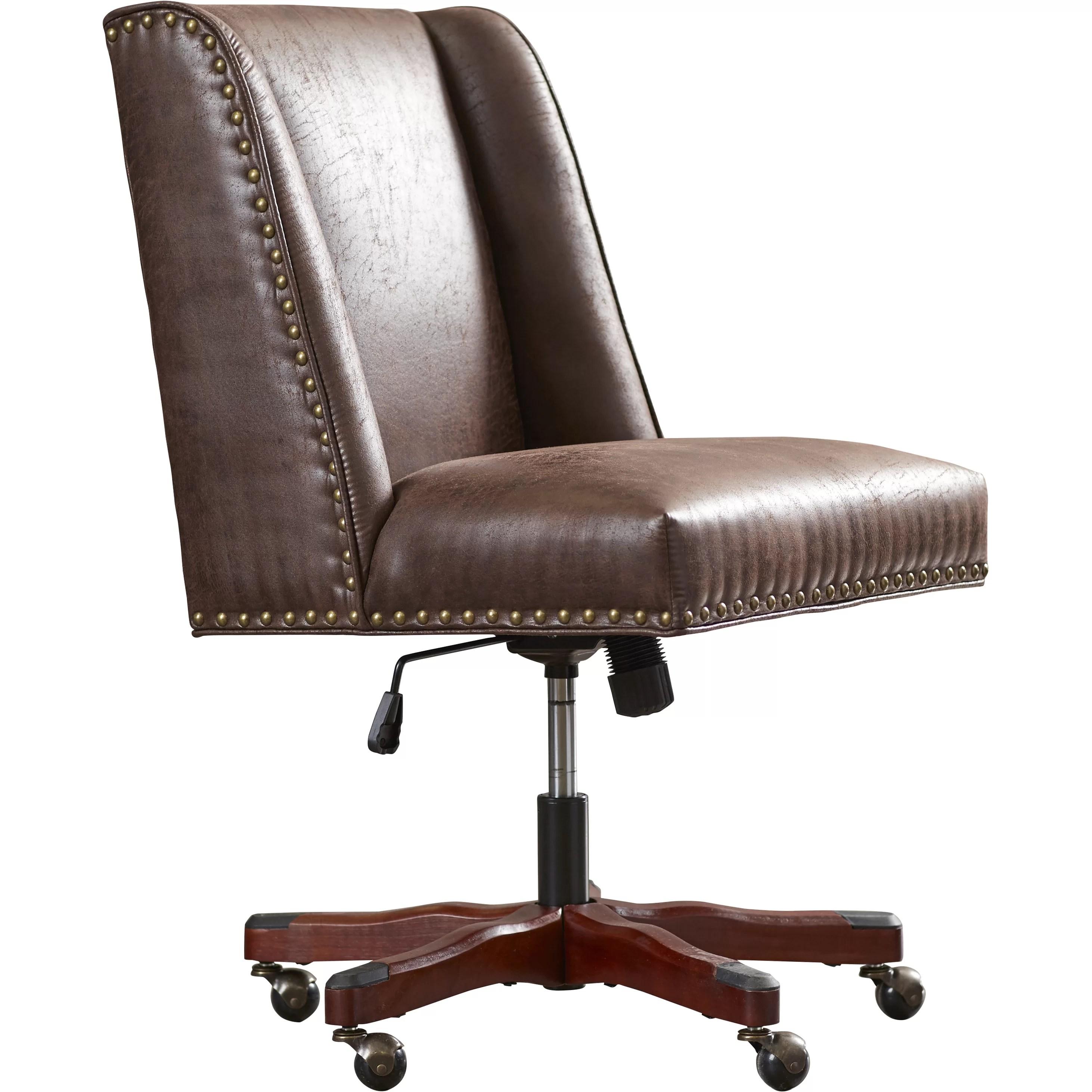 desk chair reviews resin adirondack chairs canadian tire three posts brennan and wayfair