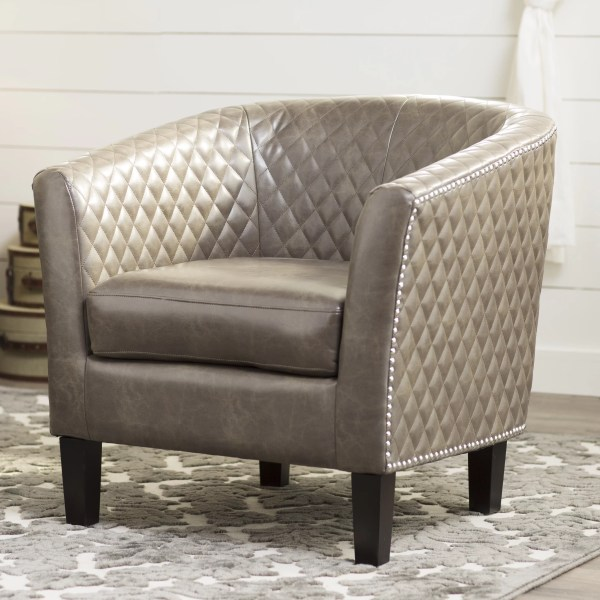 Three Posts Upholstered Barrel Chair &