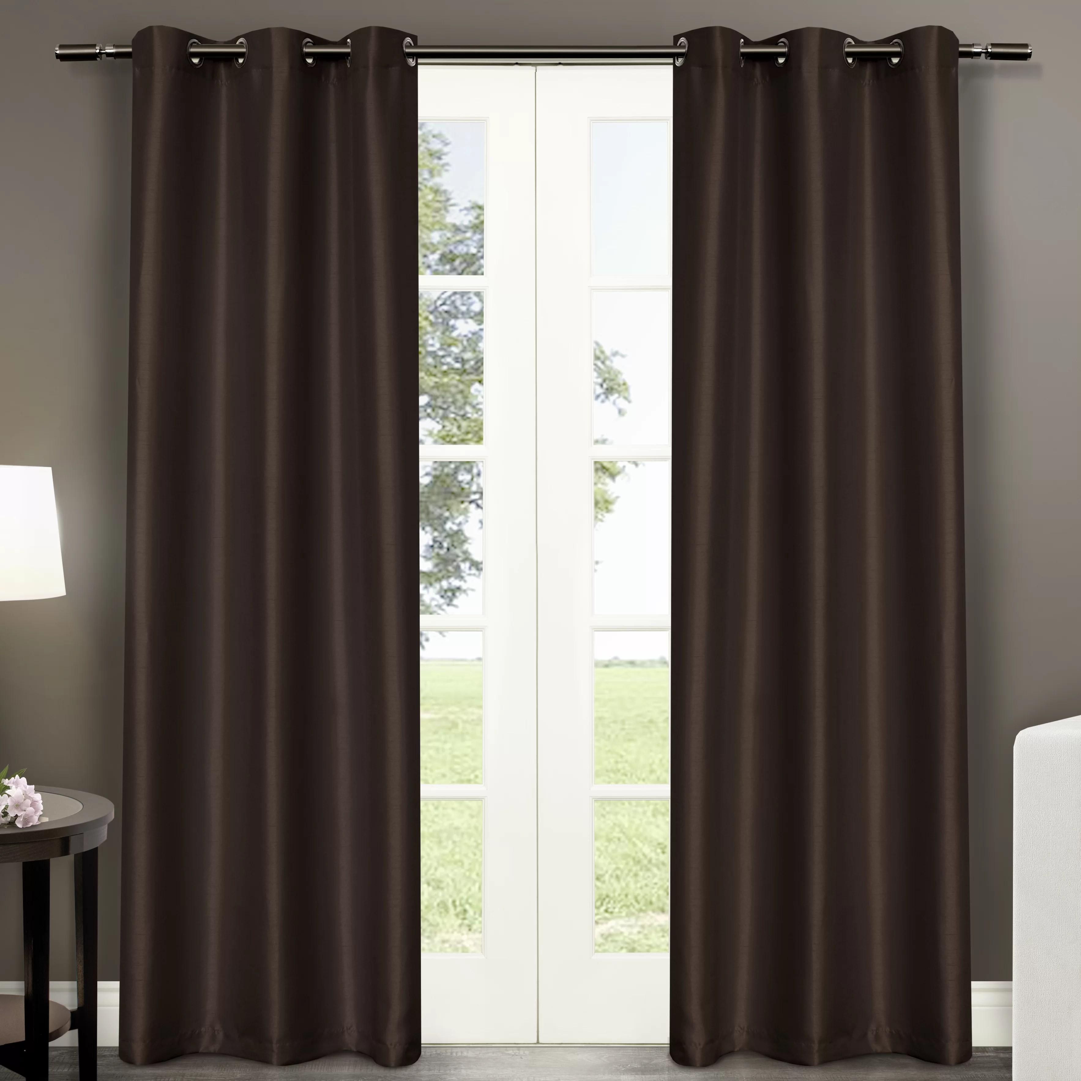 Amalgamated Textiles Antique Satin Curtain Panels & Reviews Wayfair
