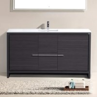 "Mercury Row Bosley 60"" Single Modern Bathroom Vanity Set ..."