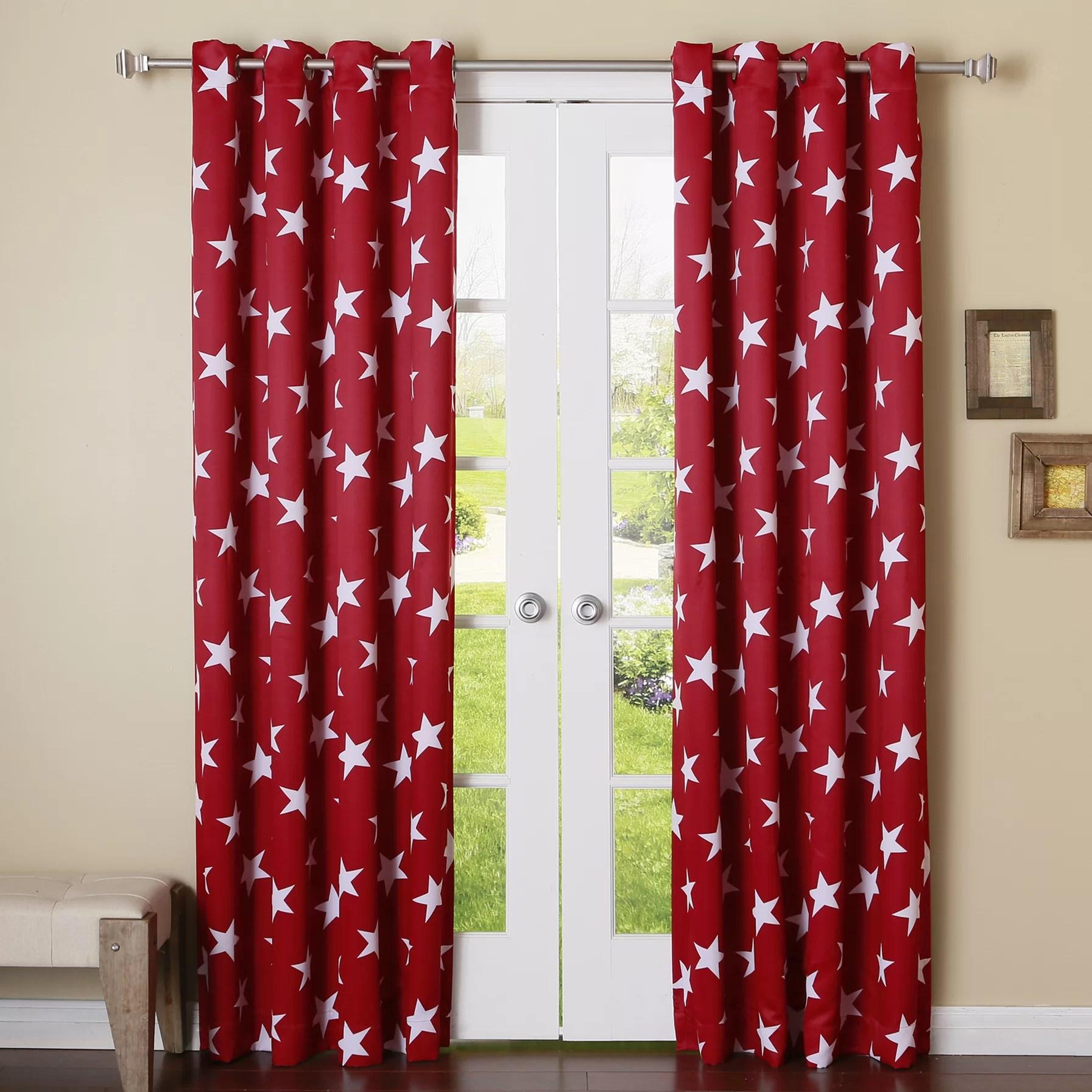 Best Home Fashion Inc Large Star Room Darkening Grommet Curtain
