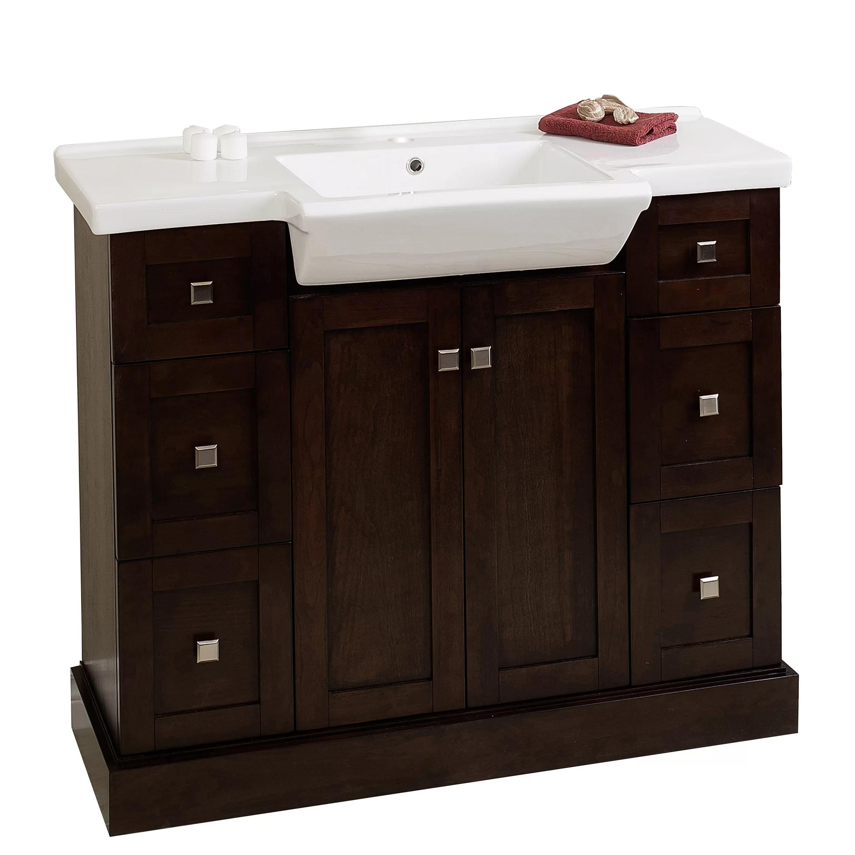 """American Imaginations 40"""" Single Modern Bathroom Vanity"""
