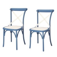 AdecoTrading Eco-Friendly Nylon Vintage Dining Side Chair ...
