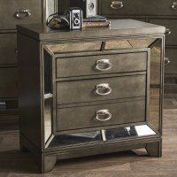 Melissa Mirrored Nightstand & Reviews