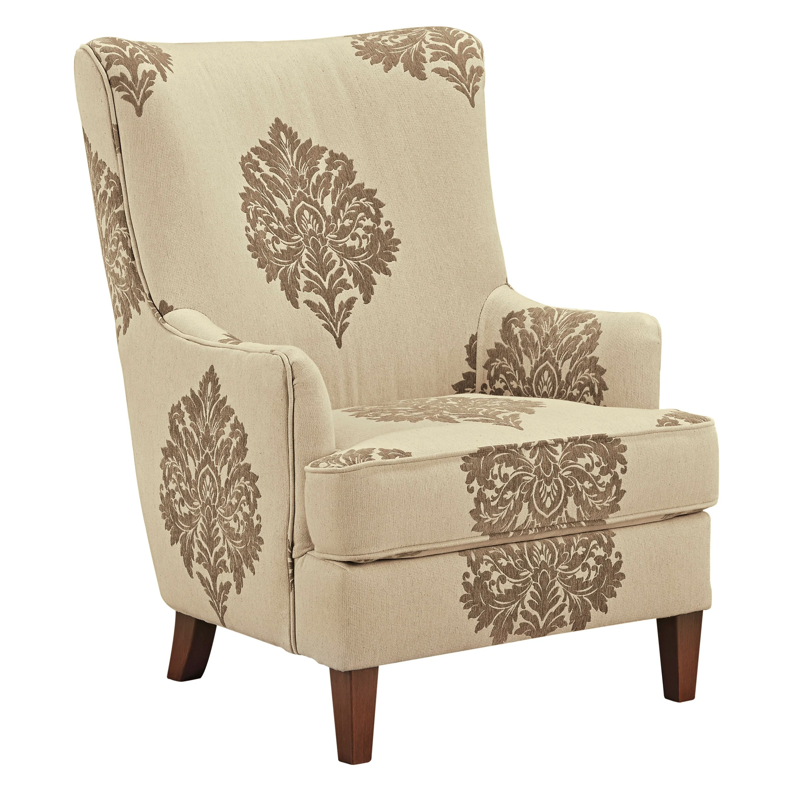 damask accent chair japanese office darby home co tallmadge arm and reviews wayfair