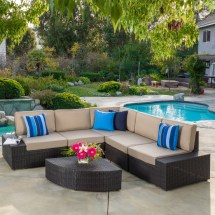 Brayden Studio Damiano 6 Piece Seating Group With Cushions