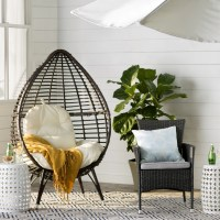 Corina Teardrop Patio Chair & Reviews