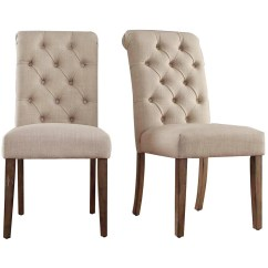 Upholstered Dining Chairs Target Orange Metal Lark Manor Pompon Tufted Side Chair And Reviews Wayfair