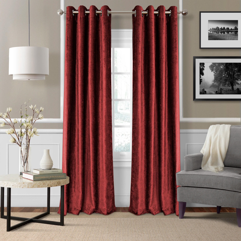 Victorian velvet curtains - Elrene Home Fashions Victoria Velvet Blackout Thermal Single