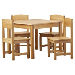 Kids Chair Set Top Grain Leather Dining Chairs Kidkraft Farmhouse 5 Piece Square Table And