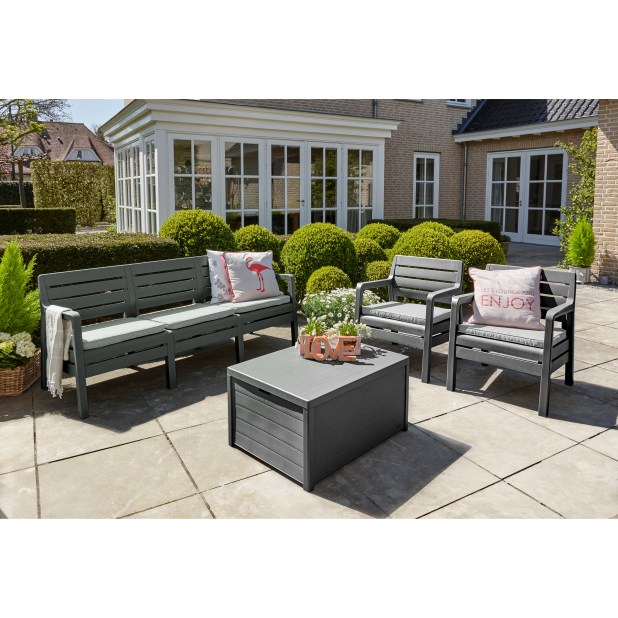 rattan effect 6 seater patio sofa set with cushions best ideas