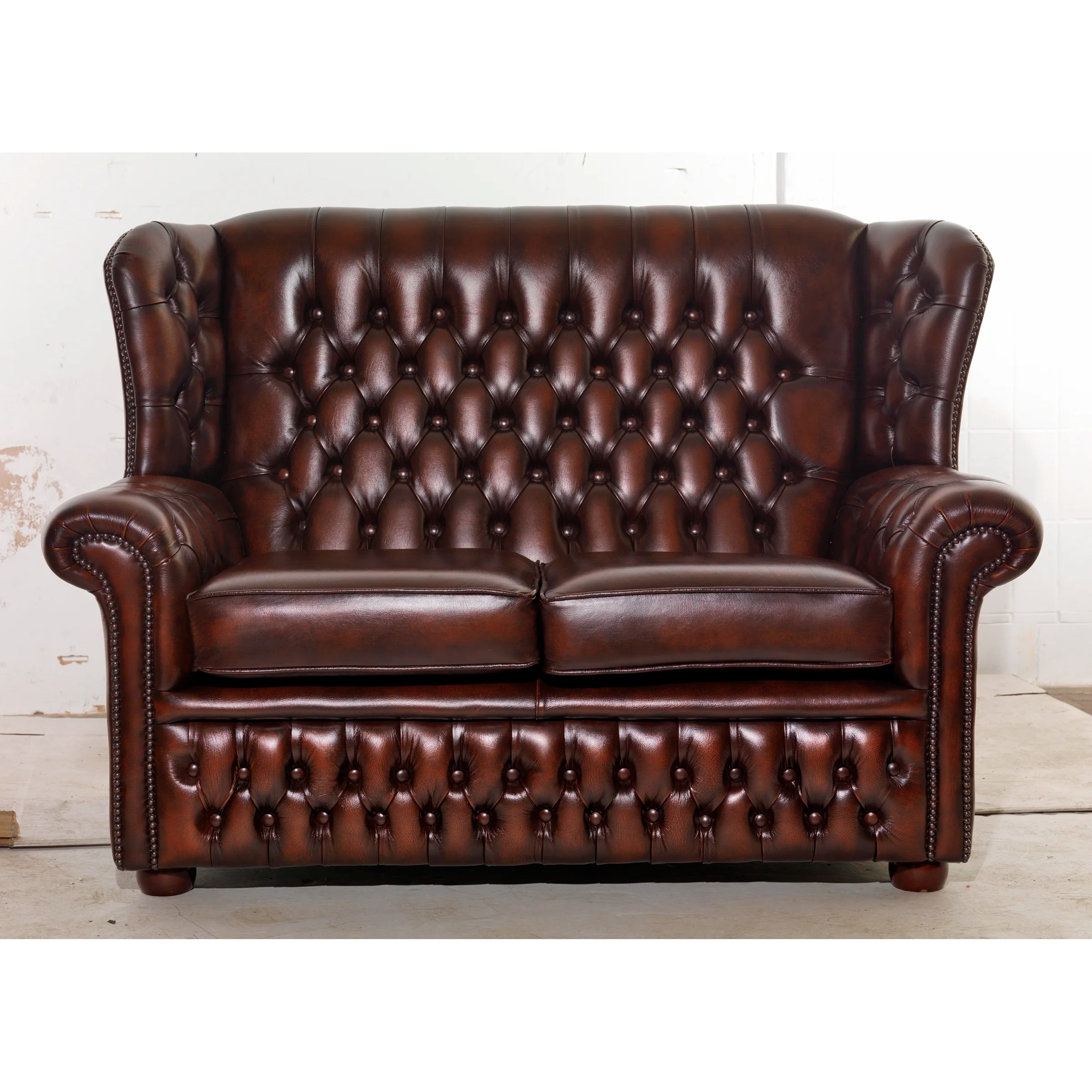 genuine leather sofa uk living room colour schemes with grey icon design potter 2 seater