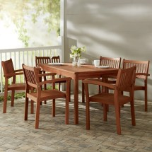 7-piece Marco Eucalyptus Dining Set & Joss Main