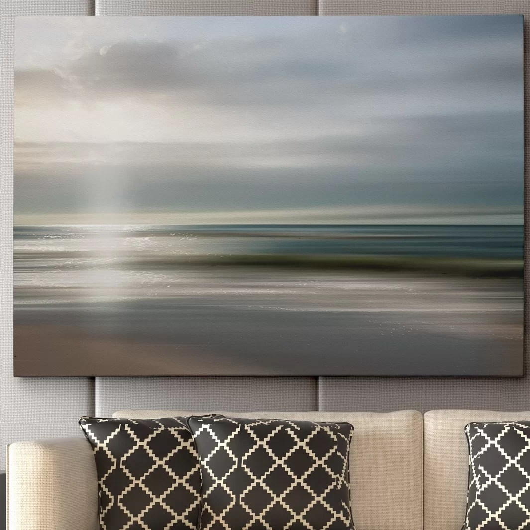 modern living room canvas art designs for tables wexfordhome 'setting sun' by mike calascibetta framed ...