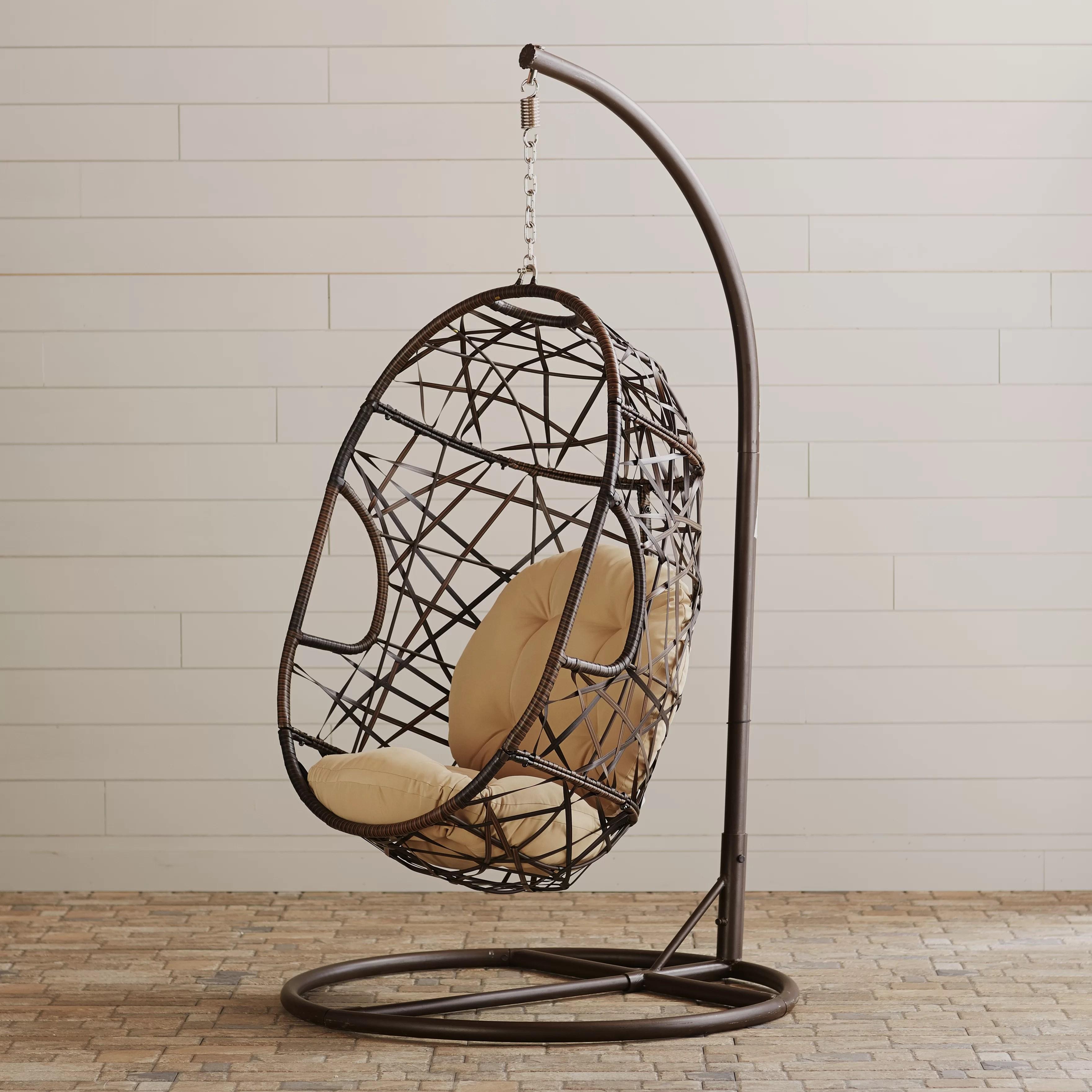 Egg Shaped Outdoor Swing Chair Duncombe Egg Shaped Outdoor Swing Chair With Stand