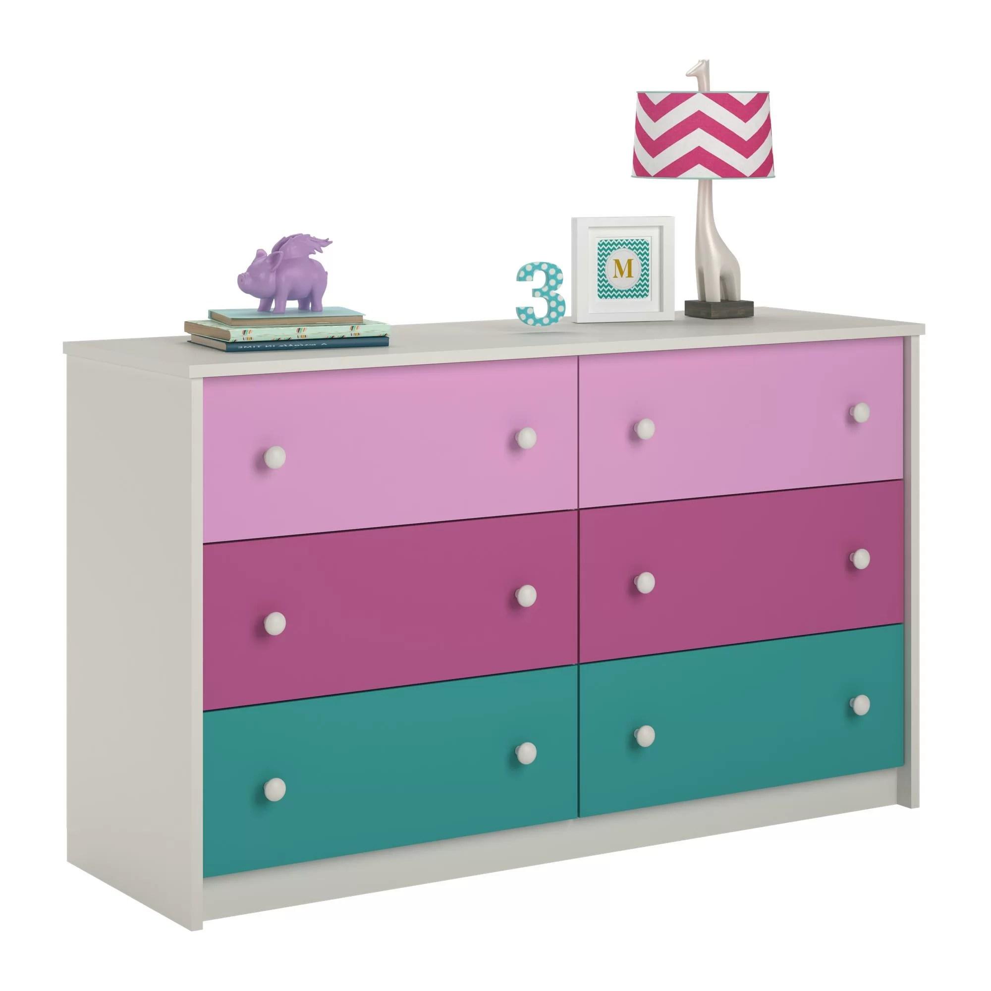 Zoomie Kids Nola 6 Drawer Double Dresser  Reviews  Wayfairca
