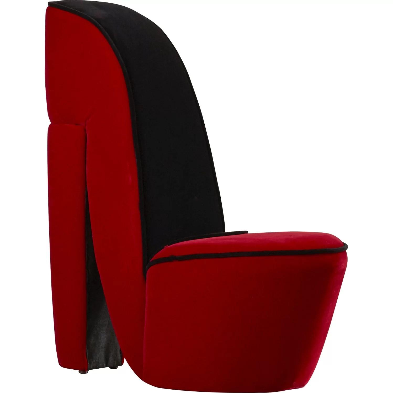 leopard high heel chair wingback chairs leather zoomie kids janae stiletto side wayfair