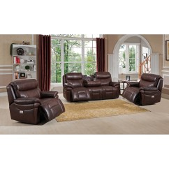 Futura Leather And Vinyl Power Reclining Sofa With Headrest In Stone Cleaner South Delhi Wayfair Living Room Sets