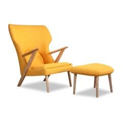 Modern Lounge Chair And Ottoman Set Acapulco Kardiel Cub Mid Century