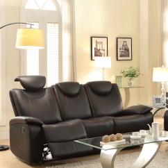 Microfiber Reclining Sofa With Drop Down Table Polaris Contemporary Bonded Leather Sectional Double Recliner – Roselawnlutheran