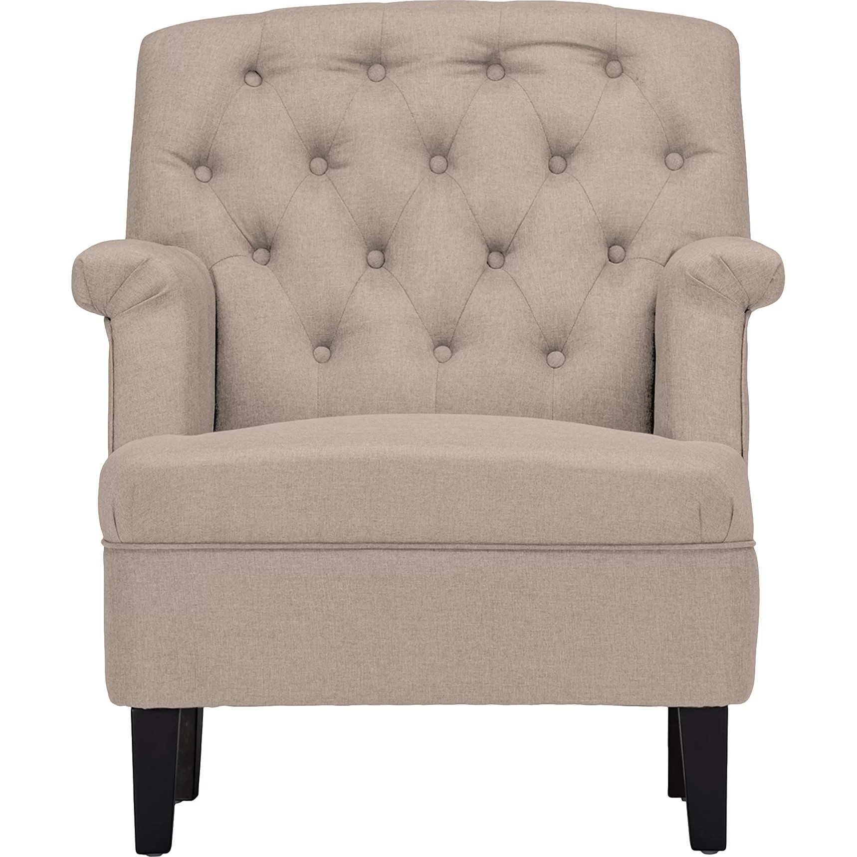 Upholstered Accent Chairs With Arms Latitude Run Sheryl Classic Retro Upholstered Arm Chair
