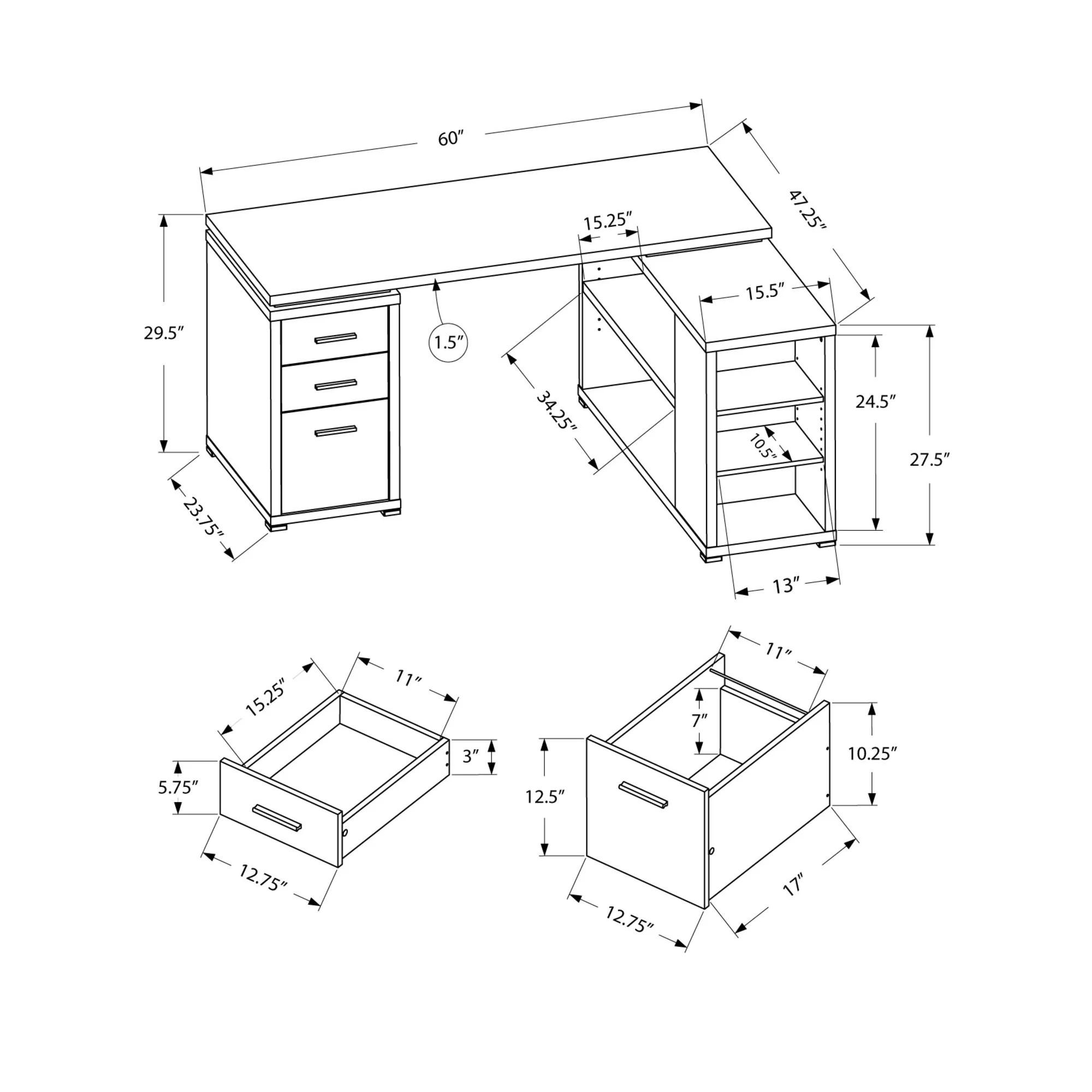 Latitude Run Huntleys L-Shaped Computer Desk & Reviews