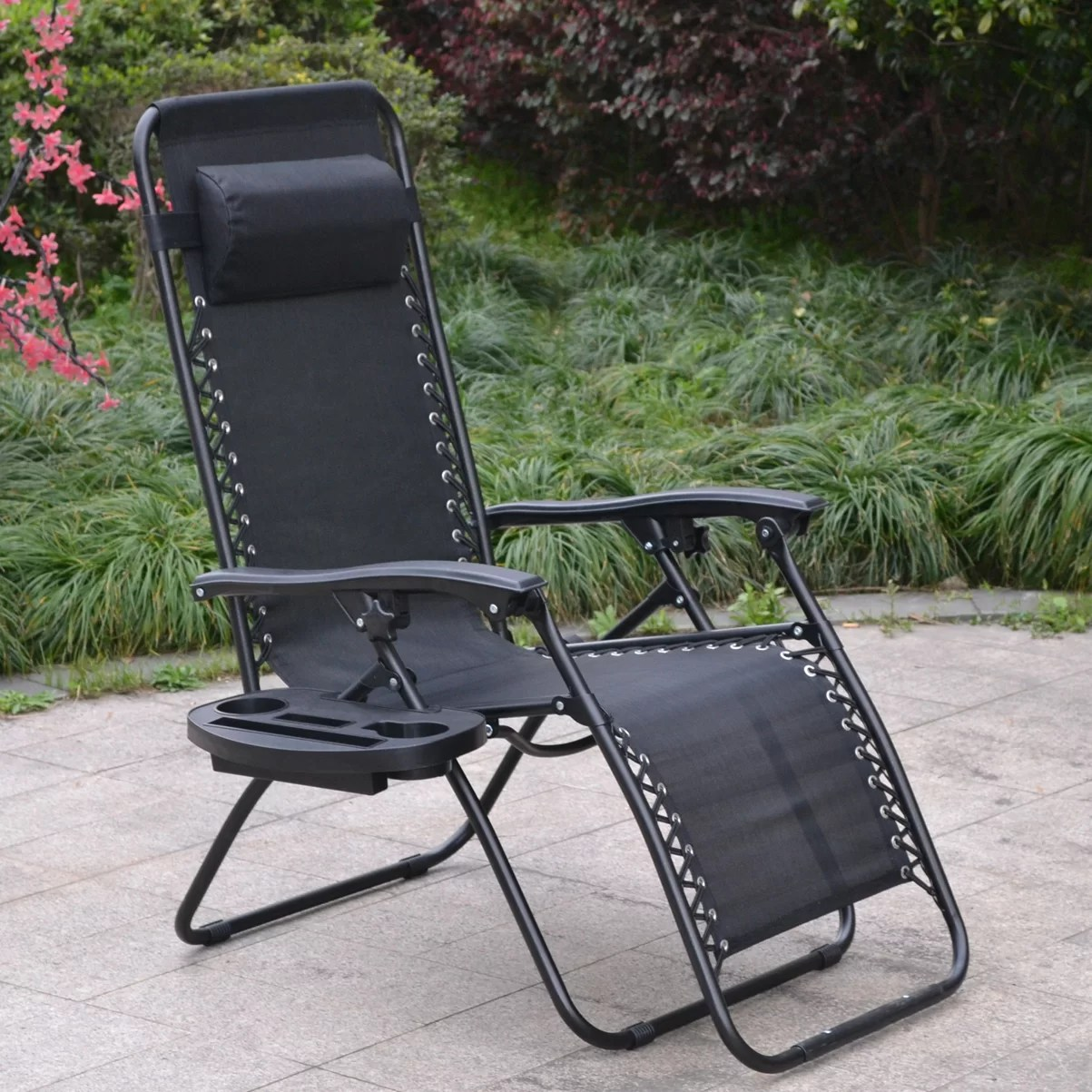 zero gravity lawn chair canada swing interior famiscorp patio beach cup tray wayfair ca