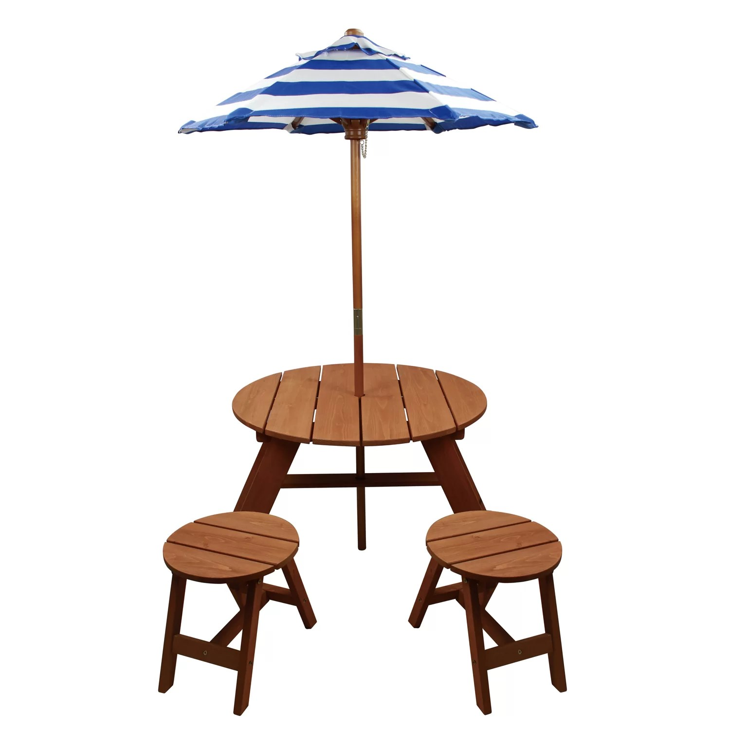 chair king umbrellas bedroom champagne homeware kids 4 piece wood round table and set with