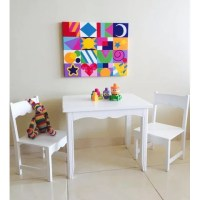AmericasToysProject Kids 3 Piece Table and Chairs Set ...