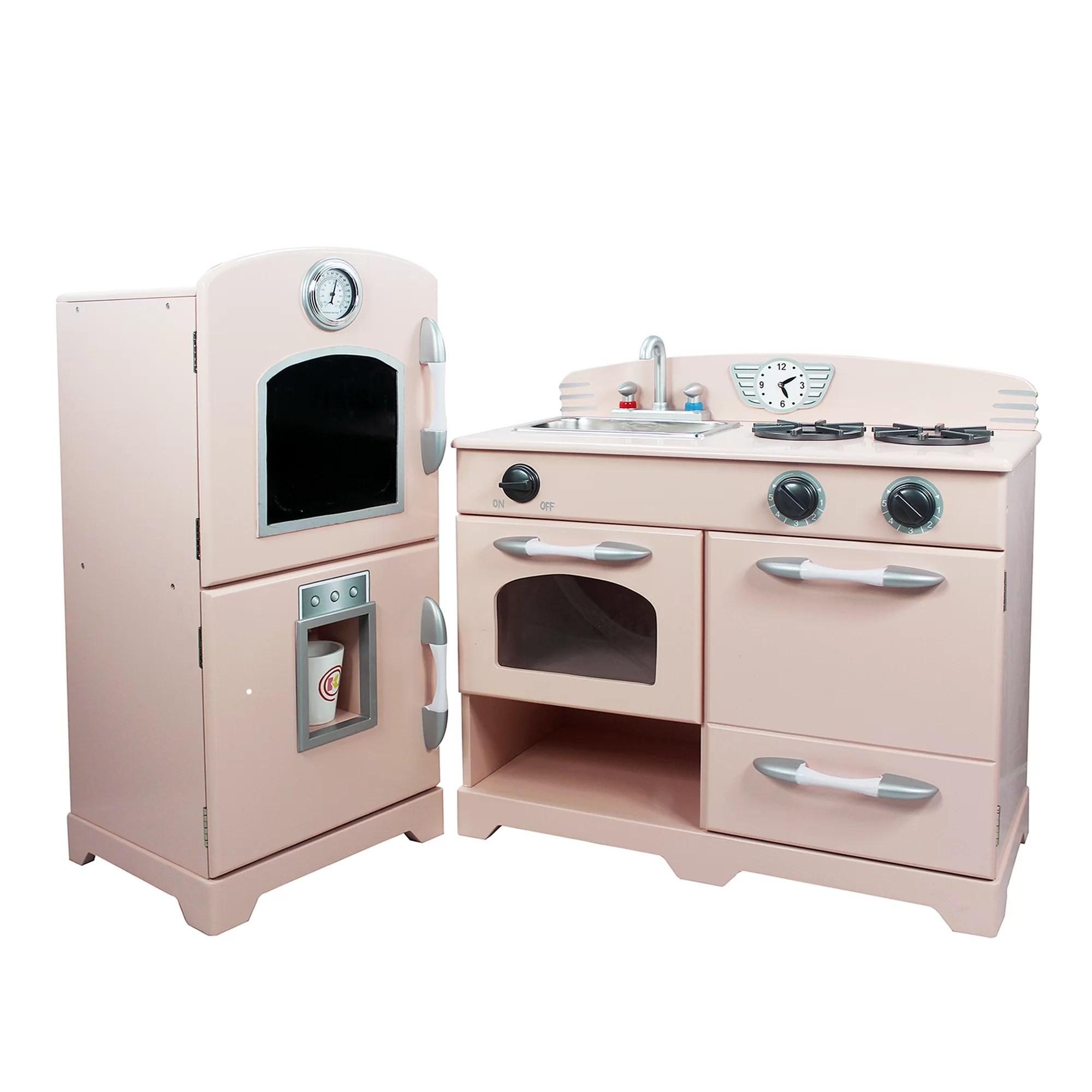 Teamson Kids 2 Piece Wooden Play Kitchen Set  Reviews  Wayfairca