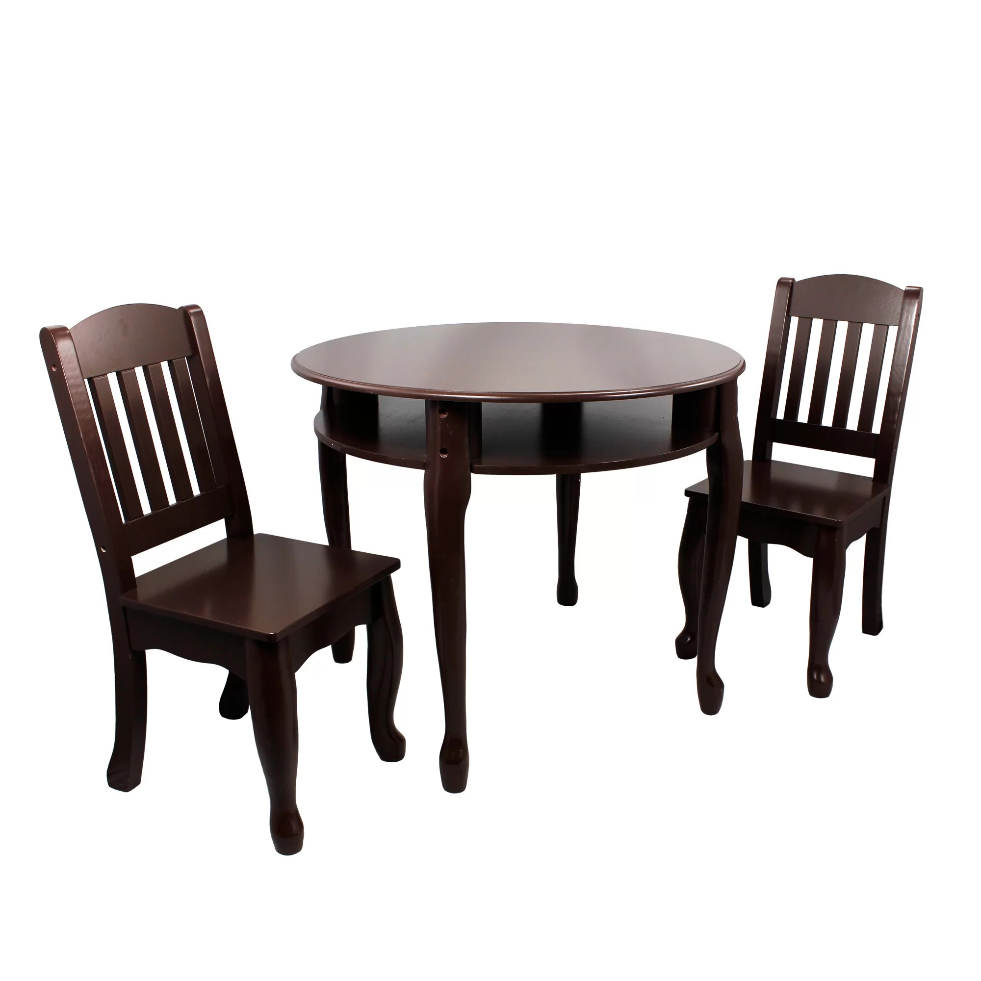 Round Table And Chair Set Teamson Kids Windsor 3 Piece Round Table And Chair Set