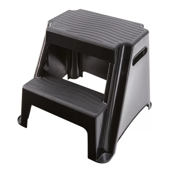 Rubbermaid 2-step Plastic Molded Step Stool With 300 Lb. Load Capacity &