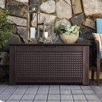 Rubbermaid Patio Chic Plastic Storage Bench & Reviews