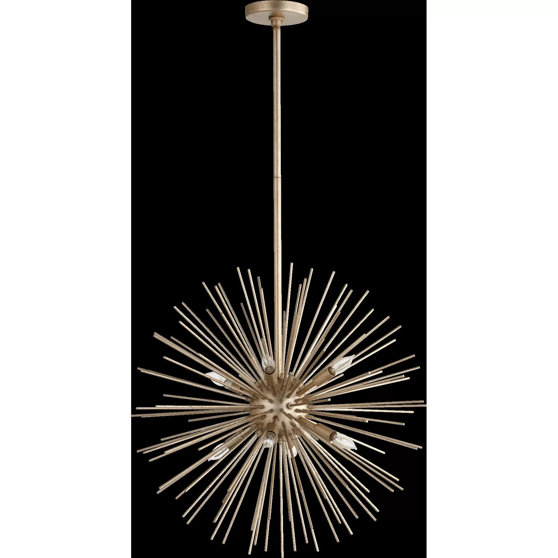 Quorum electra 8 light sputnik chandelier reviews wayfair