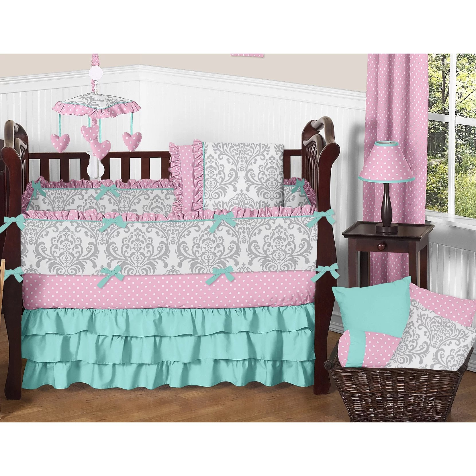 Sweet Jojo Designs Skylar 9 Piece Crib Bedding Set